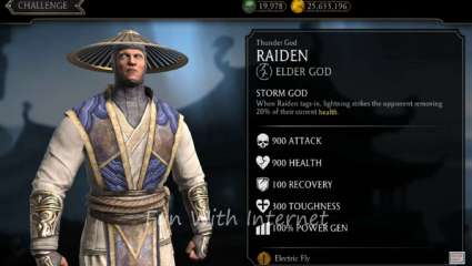 Thunder God Raiden Calls Down Lightning Into Mortal Kombat Mobile For His Weekly Tower