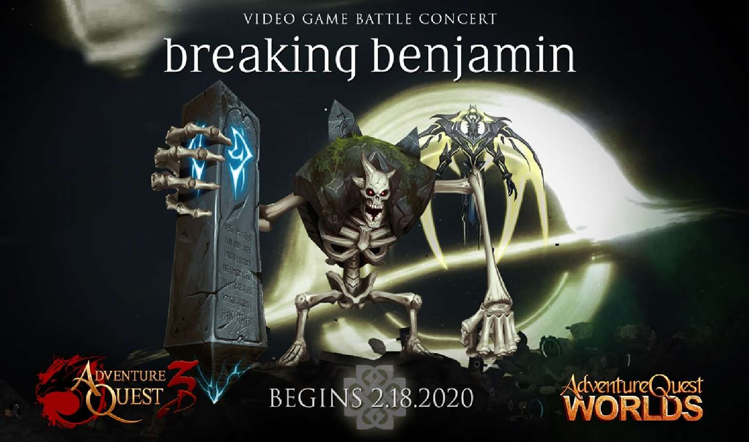 AdventureQuest Worlds And 3D Plan Breaking Benjamin Battle Concert To Coincide With A New Album