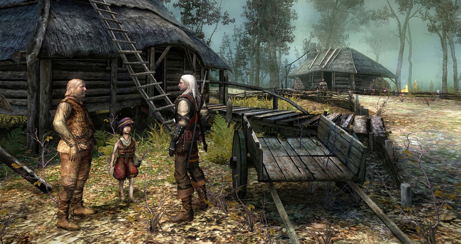 """""""Toss A Coin To Your Witcher"""" Cutscene Modded Into First The Witcher Game"""