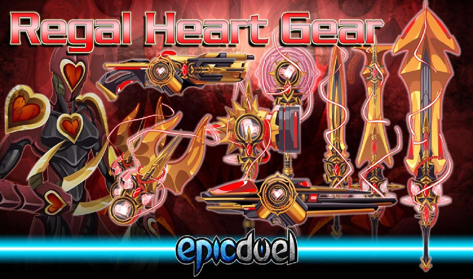 Epic Duel Releases New Weapons And Armor For Their Regal Heart Day Update