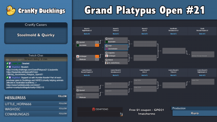 Cranky_Ducklings' Grand Platypus Open #21 StarCraft Tournament Has Begun!