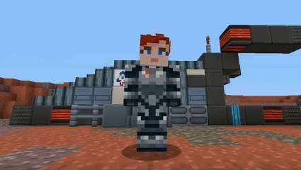 Minecraft's Mass Effect Mash-Up Pack Brings Commander Shepard Onto The Nintendo Switch For The First Time