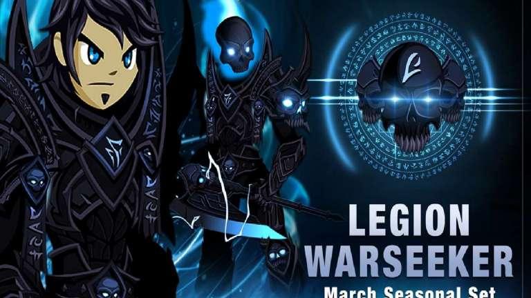 AdventureQuest Worlds Releases Their March Seasonal Set For 2020 The Legion Warseeker