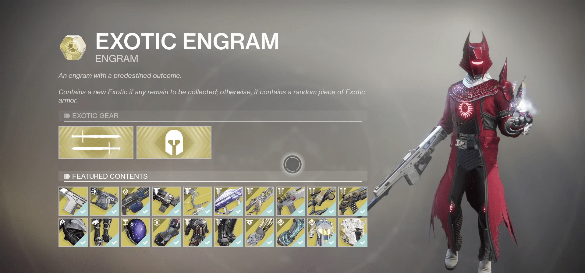 Destiny 2: Xur Exotic Vendor Inventory And Location For The Week Of April 24th