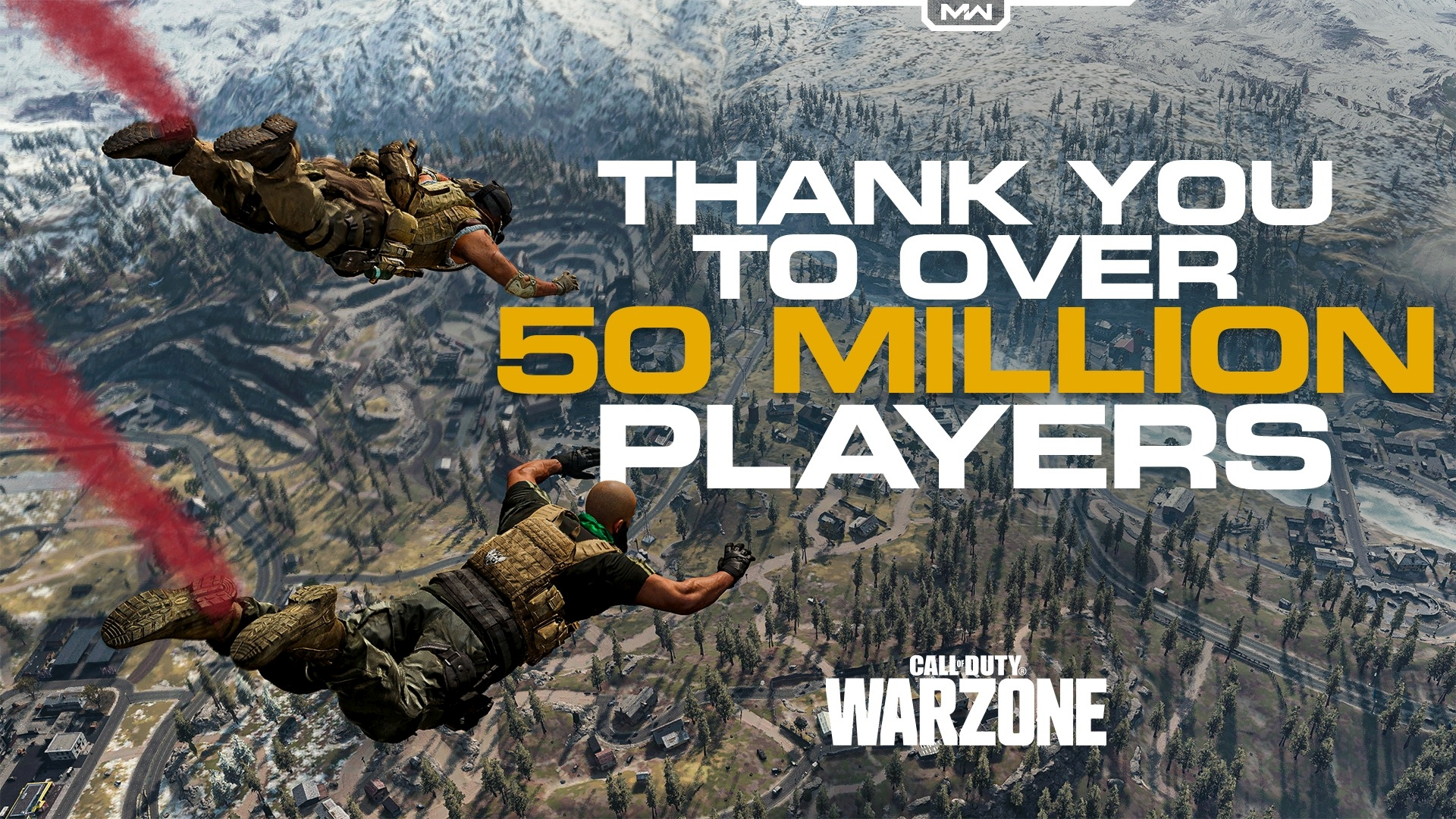 Infinity Ward's Call of Duty Warzone Surpasses 50 Million Players Worldwide
