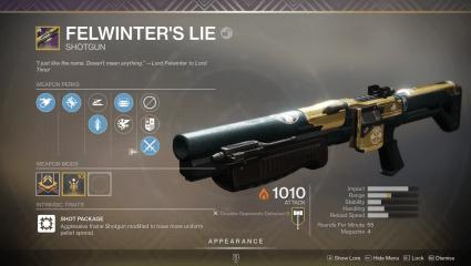 Destiny 2 The Lie Quest Walkthrough - How To Obtain Fellwinter's Lie Legendary Shotgun