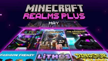 Minecraft Realms Plus May: New Gamemodes and Maps Added + 40 Free Skins!