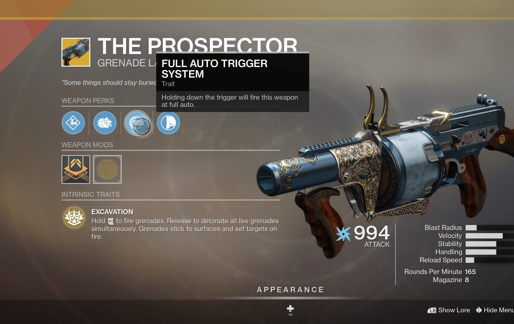 Destiny 2 Xur Is Located On The Tower This Week, Selling The Prospector Exotic Grenade Launcher
