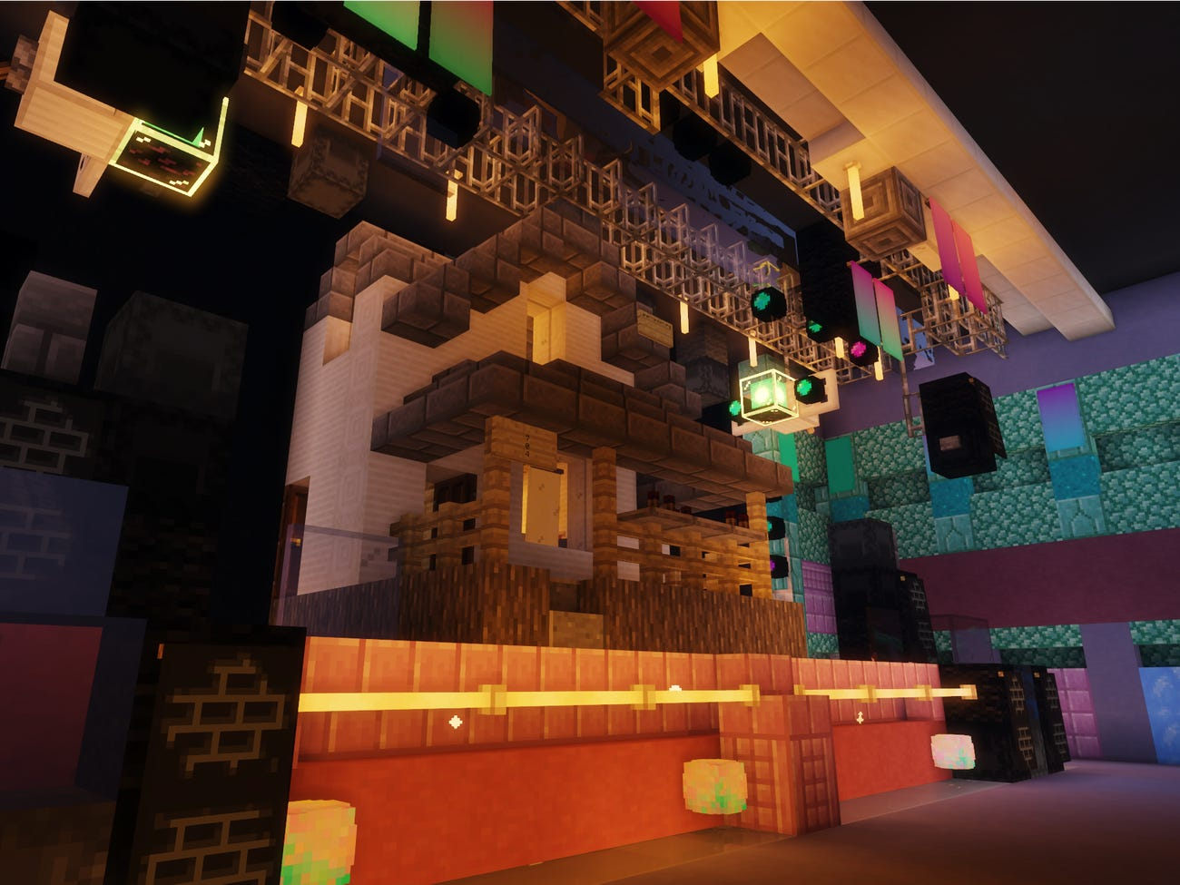 A Minecraft Night Club: A Replica Of A Brooklyn Club And A Performance By Alice Glass