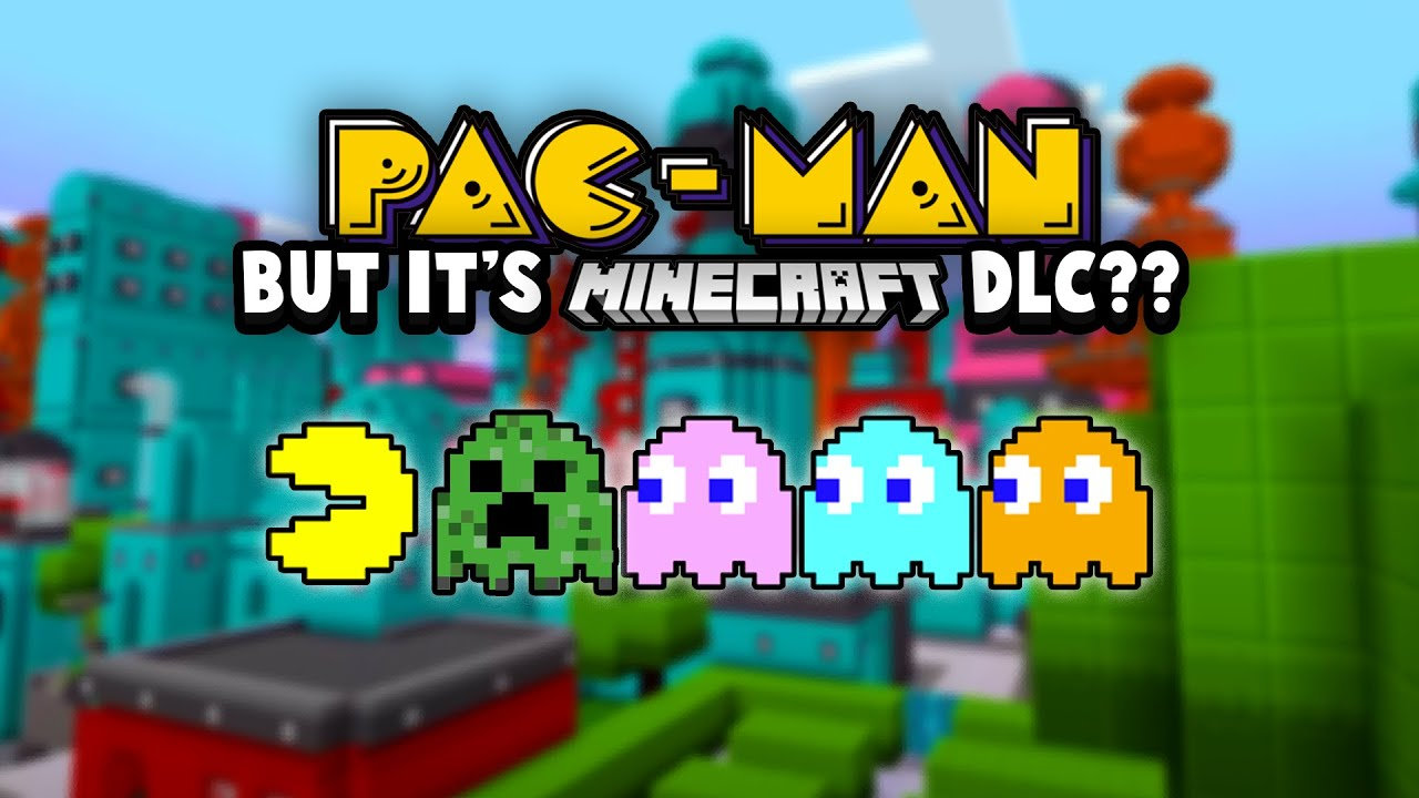Mojang Studios Releases Some DLC To The Minecraft MarketPlace For Pac-Man's 40th Birthday