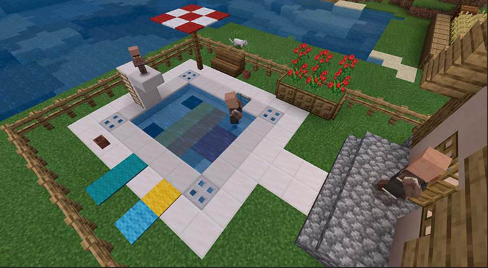Building A Minecraft Pixel Pool May Just Be The Perfect Way To Cool Off This Summer!