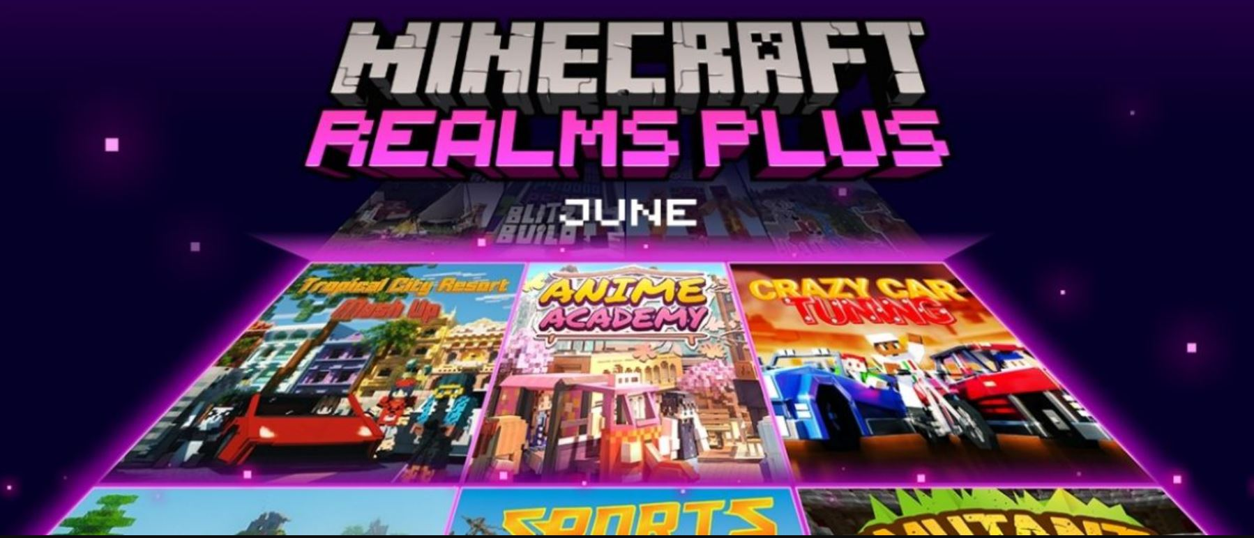 Minecraft Realms Plus June Update: Anime Academy Designed For Anime Minecraft Players!