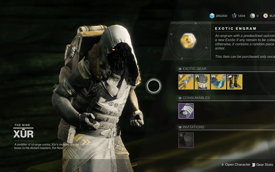 Destiny 2: Introduction Of Random Rolled Exotics To Xur's Inventory Starting 6/12