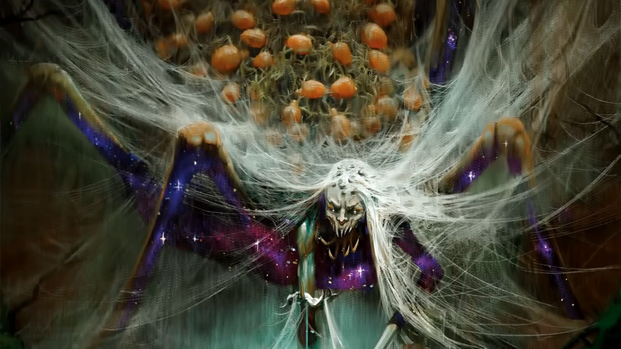 Arasta Of The Endless Web Is A New Mythic Class Monster Added By Mythic Odysseys Of Theros And Is The Stuff Of Nightmares