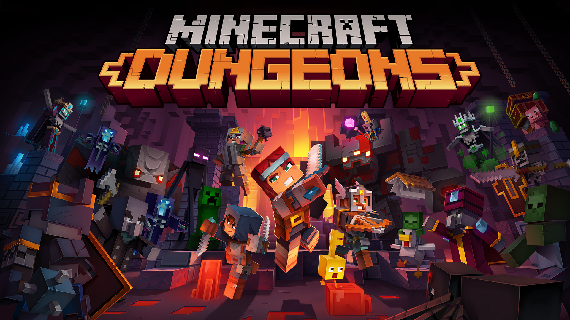 Minecraft Dungeons: A Dungeon-Crawler Type Game That Features A Very Minecraft Style