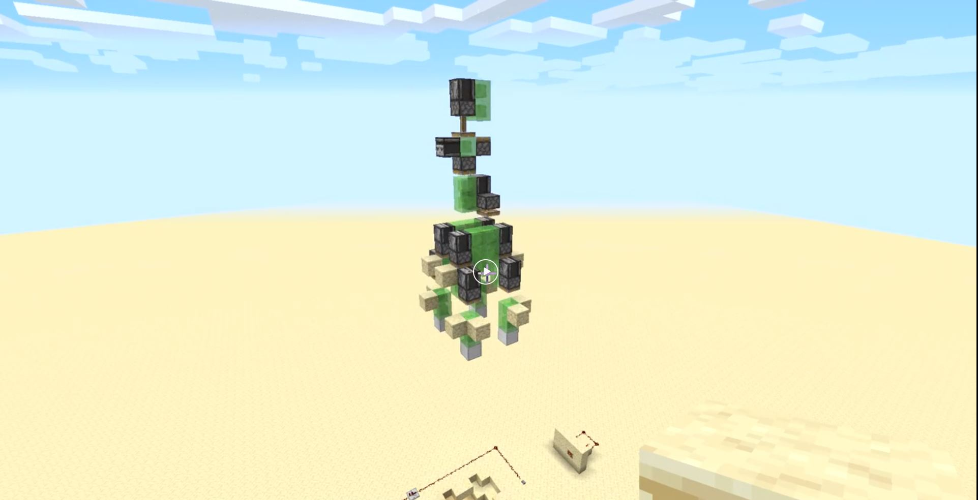 Redditor SamTheMan2805 Created A Minecraft Rocket That Comes From the Ground Itself!