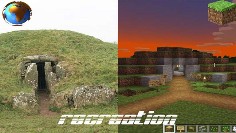A Father And Daughter Have Recreated A 5,000 Year Old Welsh Tomb In Minecraft