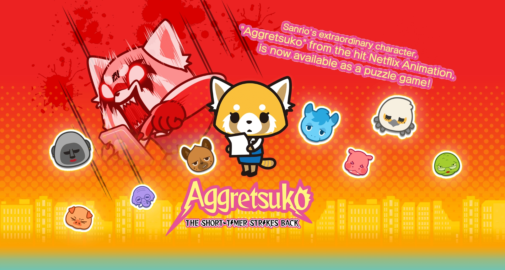 Aggretsuko: The Short-Timer Strikes Back Puzzle Game Launches On July 28 For Mobile