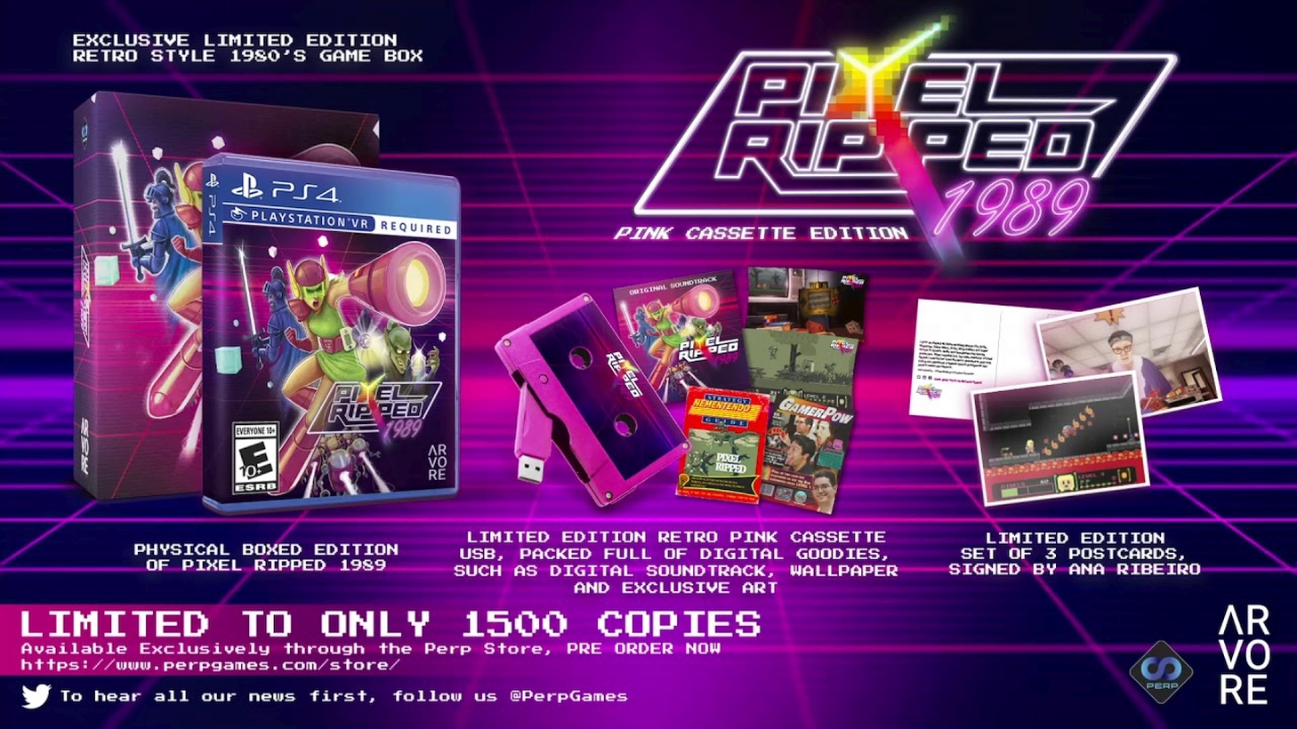 Pixel Ripped 1989 Gets Limited Edition Pink Cassette Physical PlayStation VR Edition On August 25