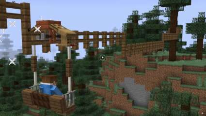 Ever Wanted To Zipline In Minecraft, Redditor ShrimpySeagull Created A Contraption To Do Just That!