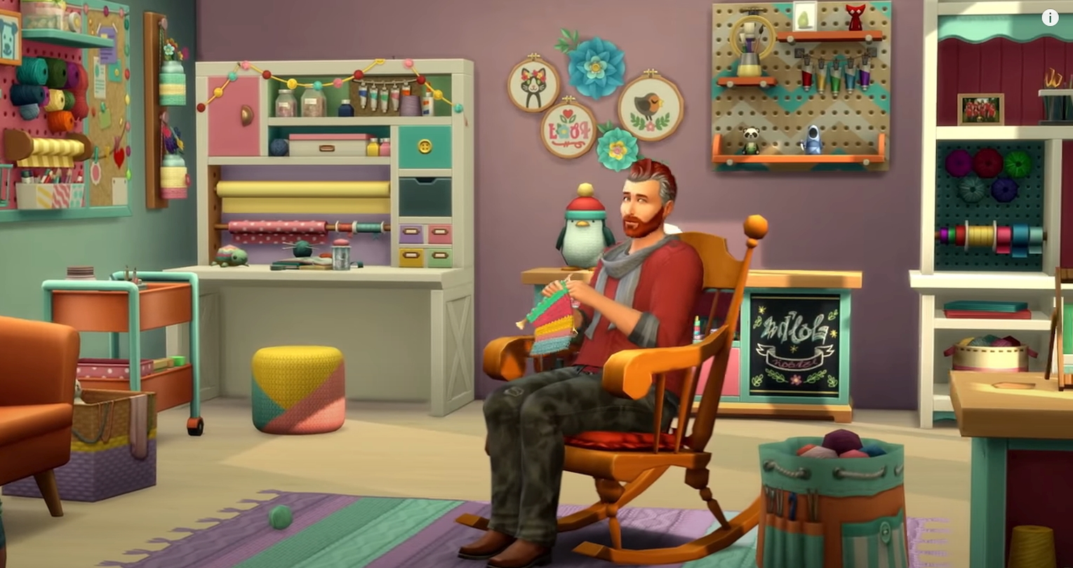 The Sims 4: Nifty Knitting Community Voted Stuff Pack Launches This Month For PC And Consoles