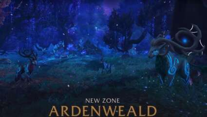 Tackling A Boss Mob In Ardenweald For The Wild Glimmerfur Prowler Mount In World Of Warcraft: Shadowlands