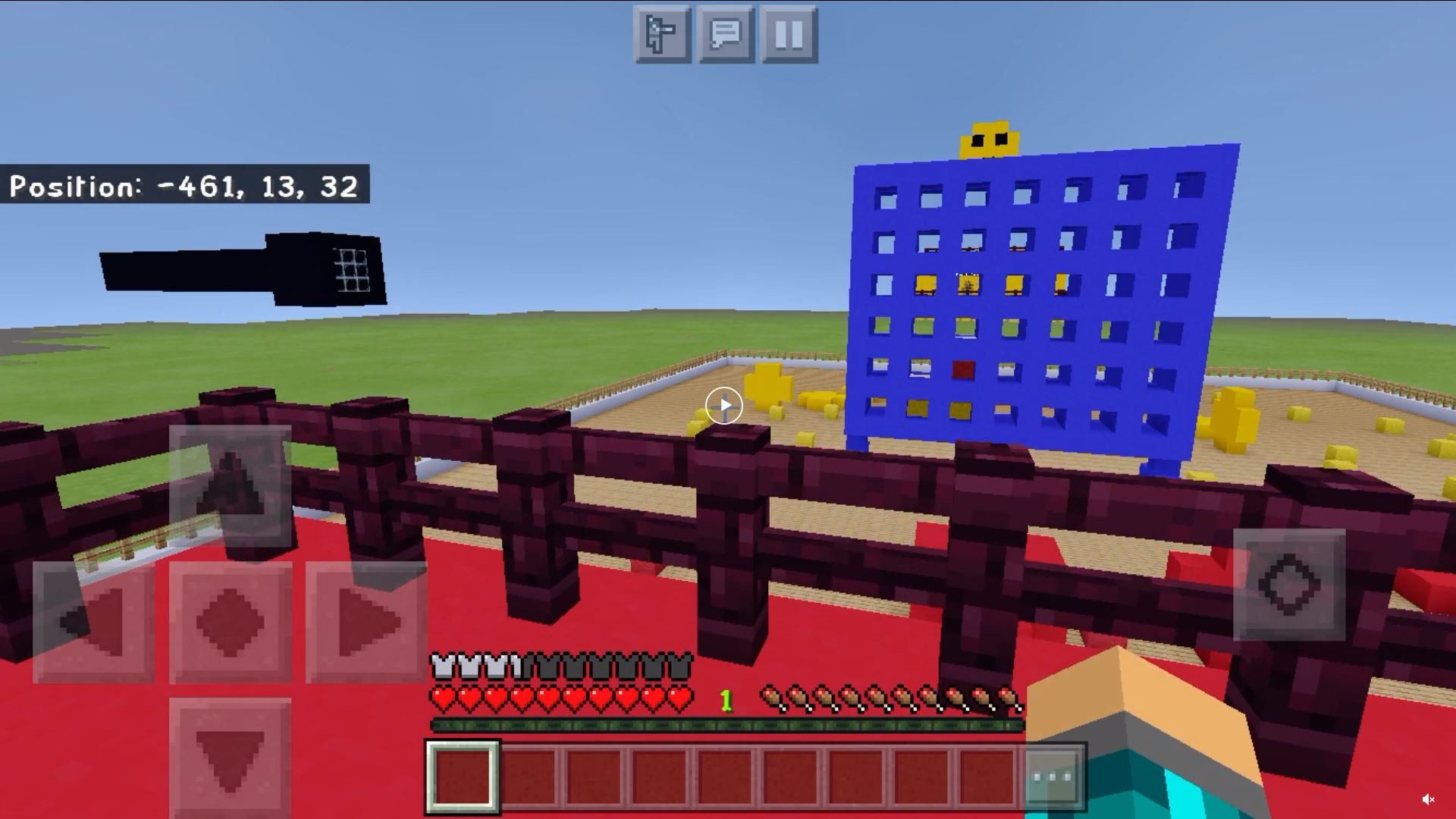 Redditor LilDennnn Created The Classic Game Of Connect 4 in Minecraft Bedrock Edition