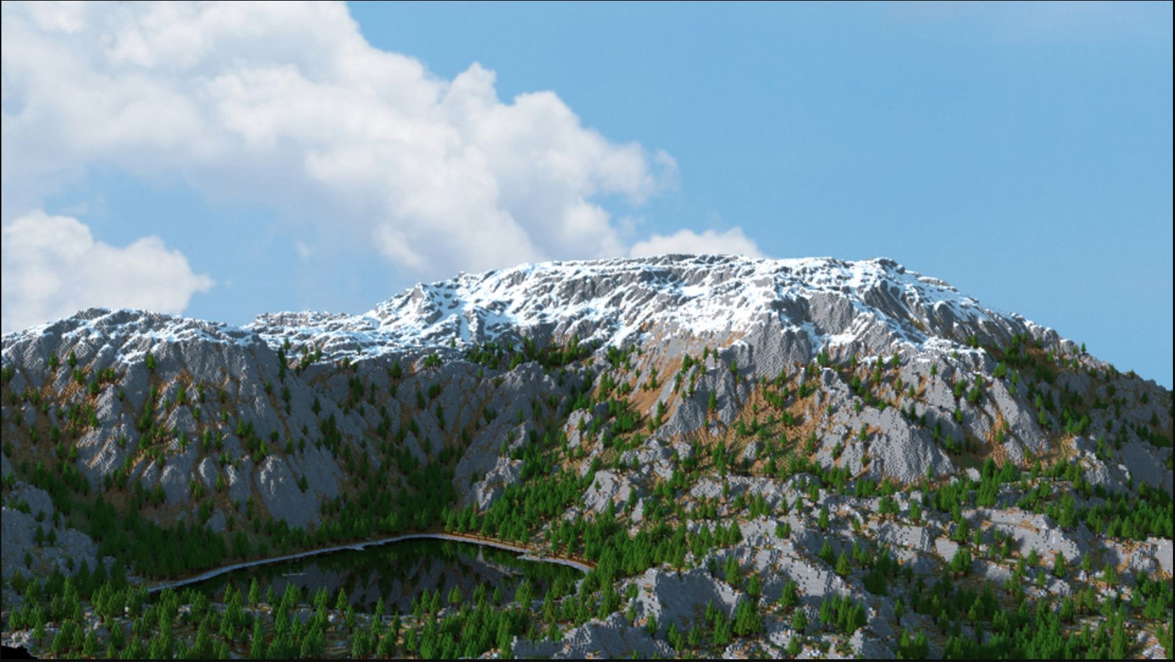 Is That A Photo Of A Mountain? No That Is A Mountain That Has Been Created In Minecraft