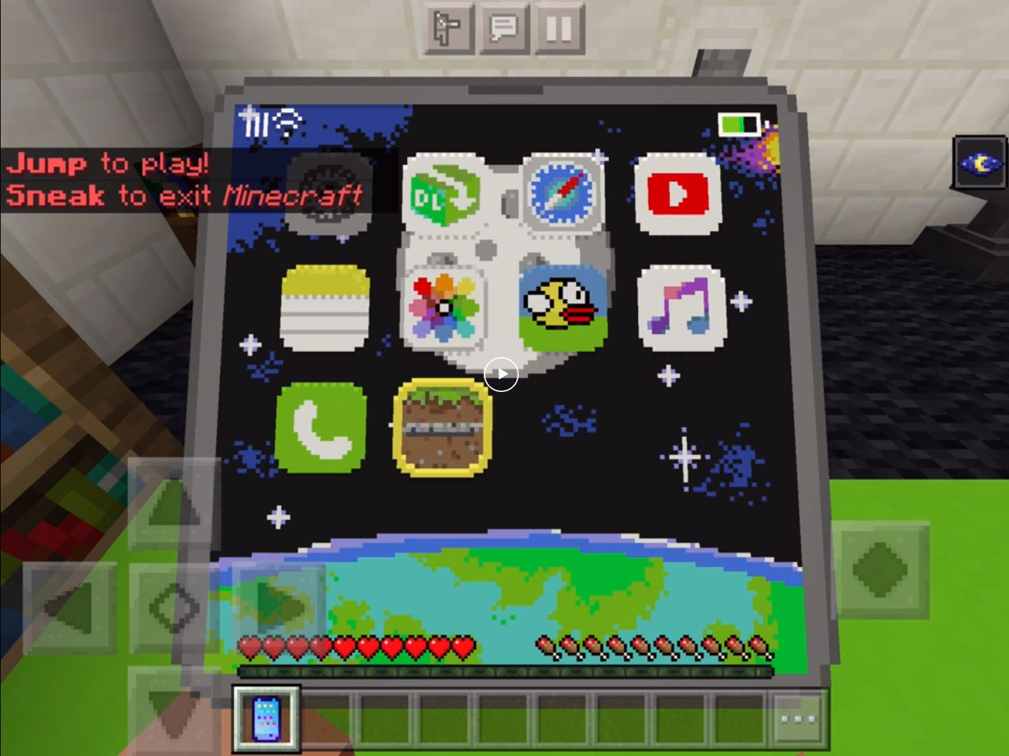 Minecraft Redditor On_Reddit_I_Gettit Has Created Minecraft In Minecraft On His Phone!