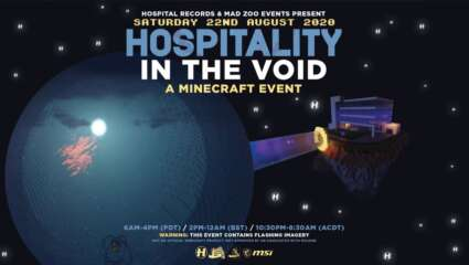 HOSPITALITY IN THE VOID! Is A Virtual Music Event In Minecraft Hosted By Mad Zoo And Hospitality