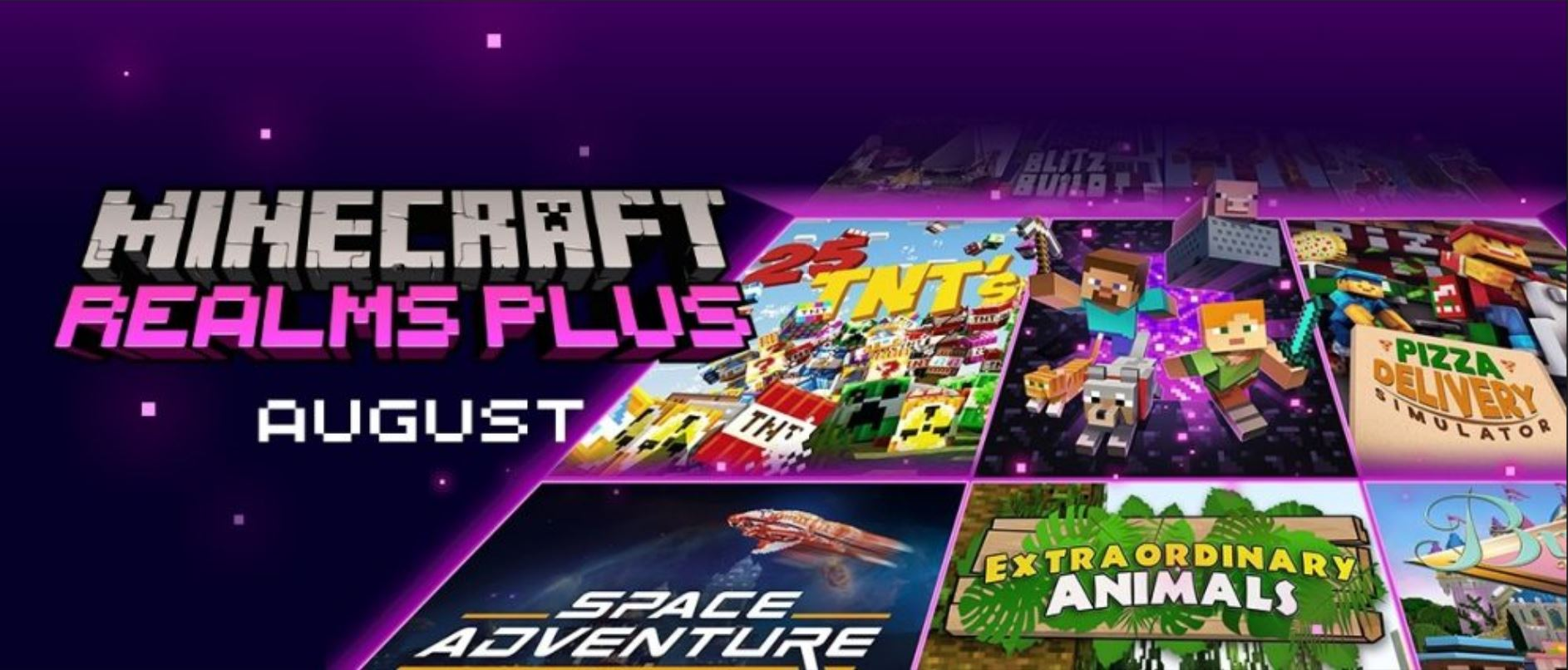 Minecraft Realms Plus August: New Game Modes Featuring New Skins And New Maps