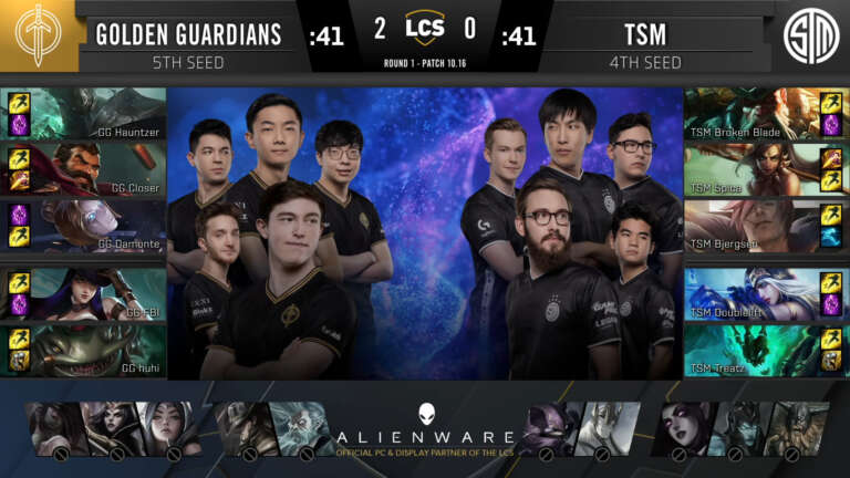 LCS - Golden Guardians Clean Sweeps Team SoloMid In Franchise's First Playoff Win
