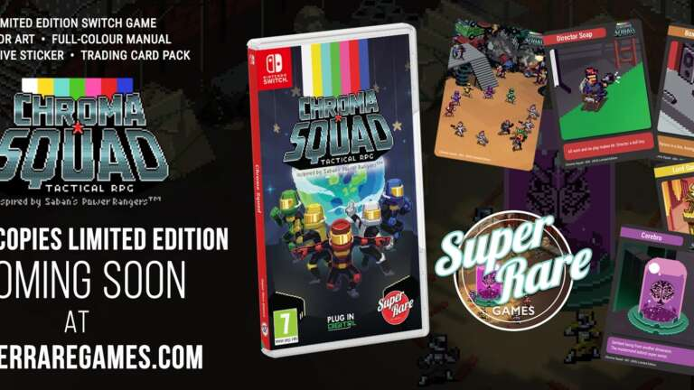 Tactical RPG Chroma Squad Announces Limited Nintendo Switch Physical Release