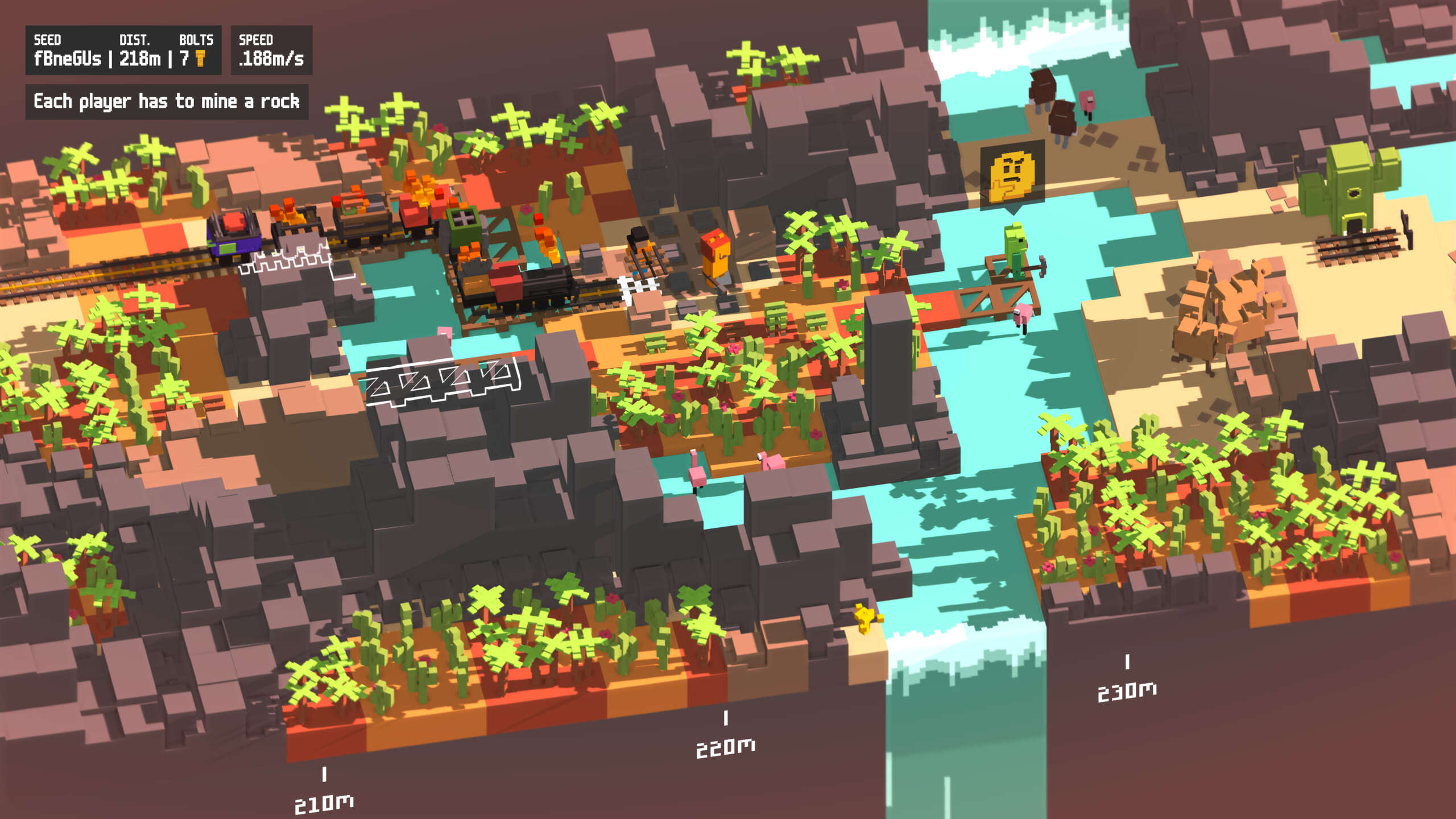 Unrailed Is A New Blocky Co-Op Action Game Headed To PC And Consoles This September