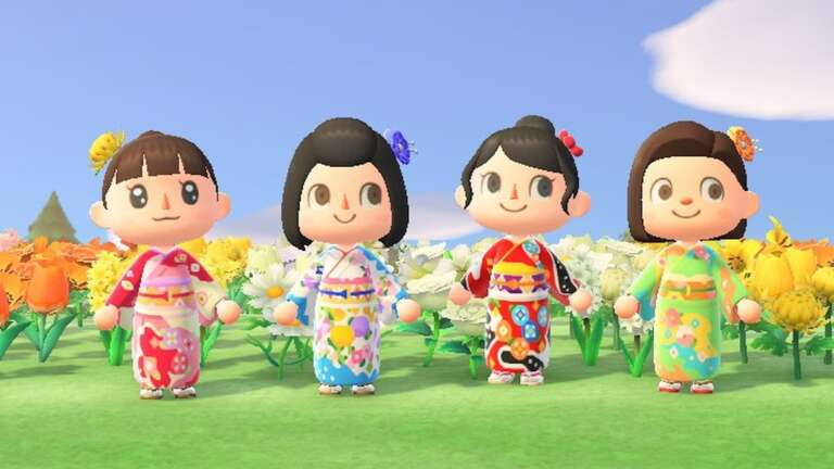 Traditional Japanese Kimono Design Company Chiso Releases Animal Crossing: New Horizons Patterns