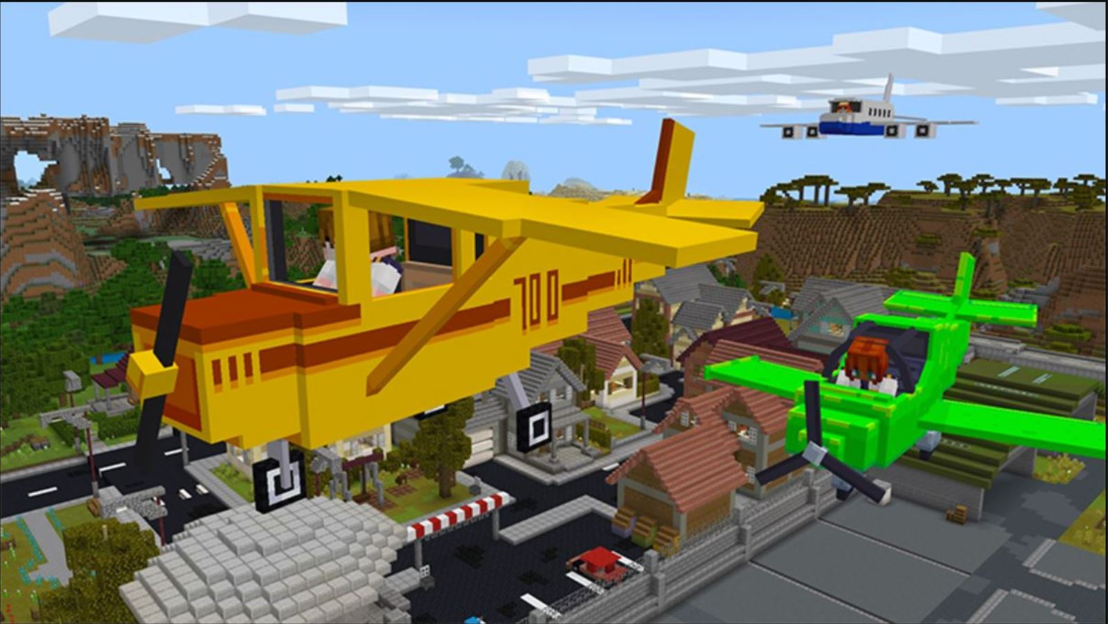 Want To Fly An Airplane In Minecraft? Then The Super Planes Marketplace Item Is The Choice For You