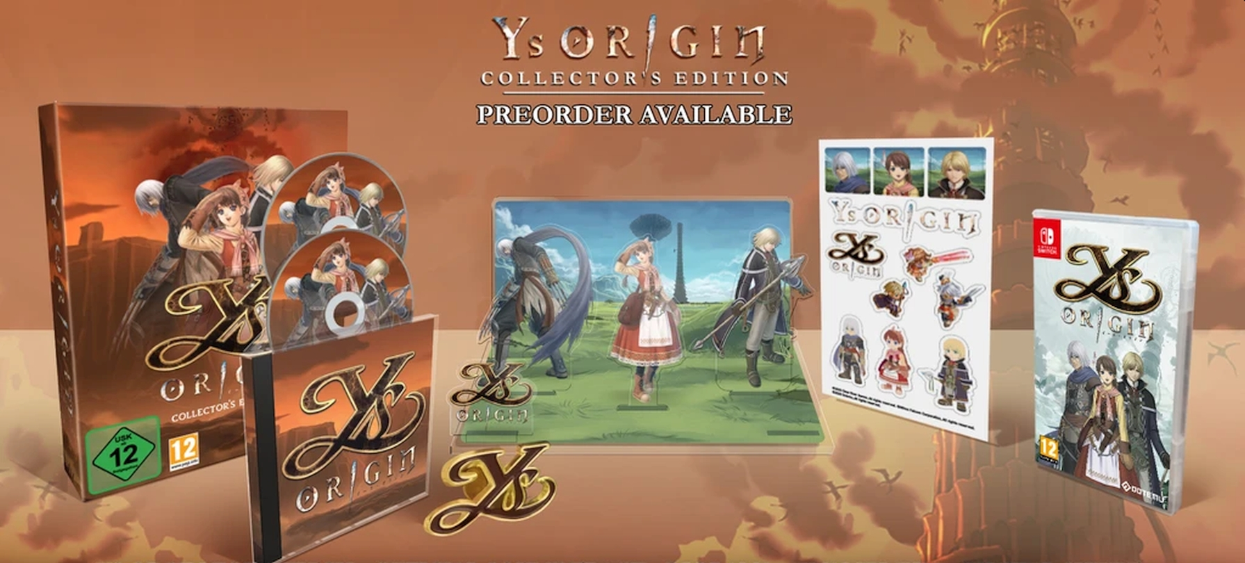 Strictly Limited Games Announces Ys Origin Collector's Edition For PlayStation 4 And Nintendo Switch