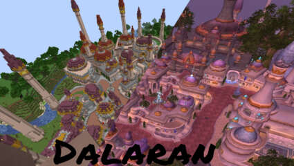 Redditor LapisBroSammy Has Recreated Dalaran In Survival Minecraft, Creating WoW In Minecraft