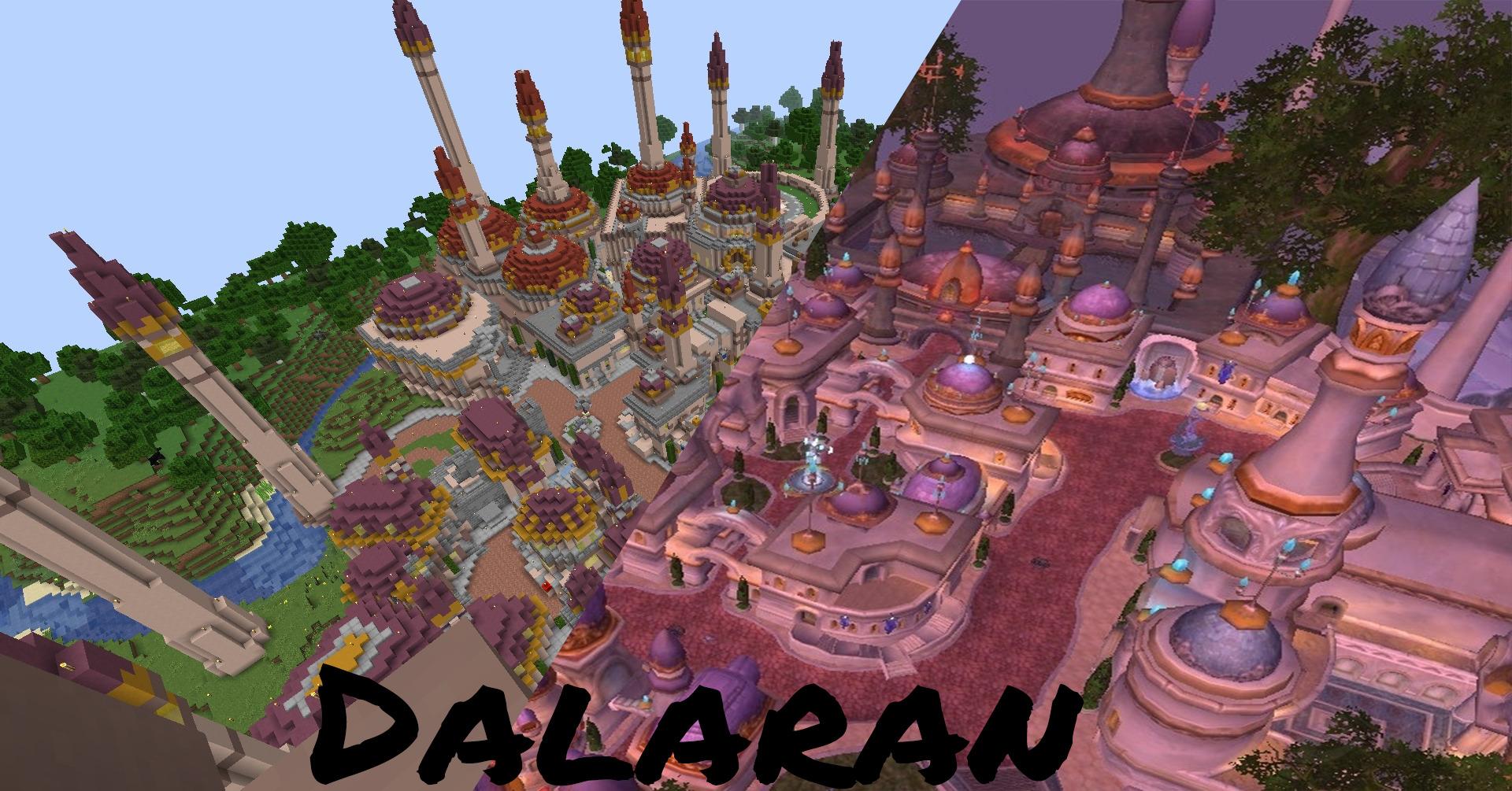 Redditor LapisBroSammy Has Recreated Dalaran In Survival Minecraft, Creating WoW In Minecraft