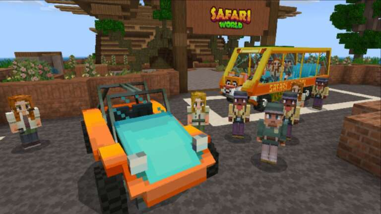 Minecraft Marketplace Explored: Safari World, For Players Who Might Want A Break From The Dinosaurs!