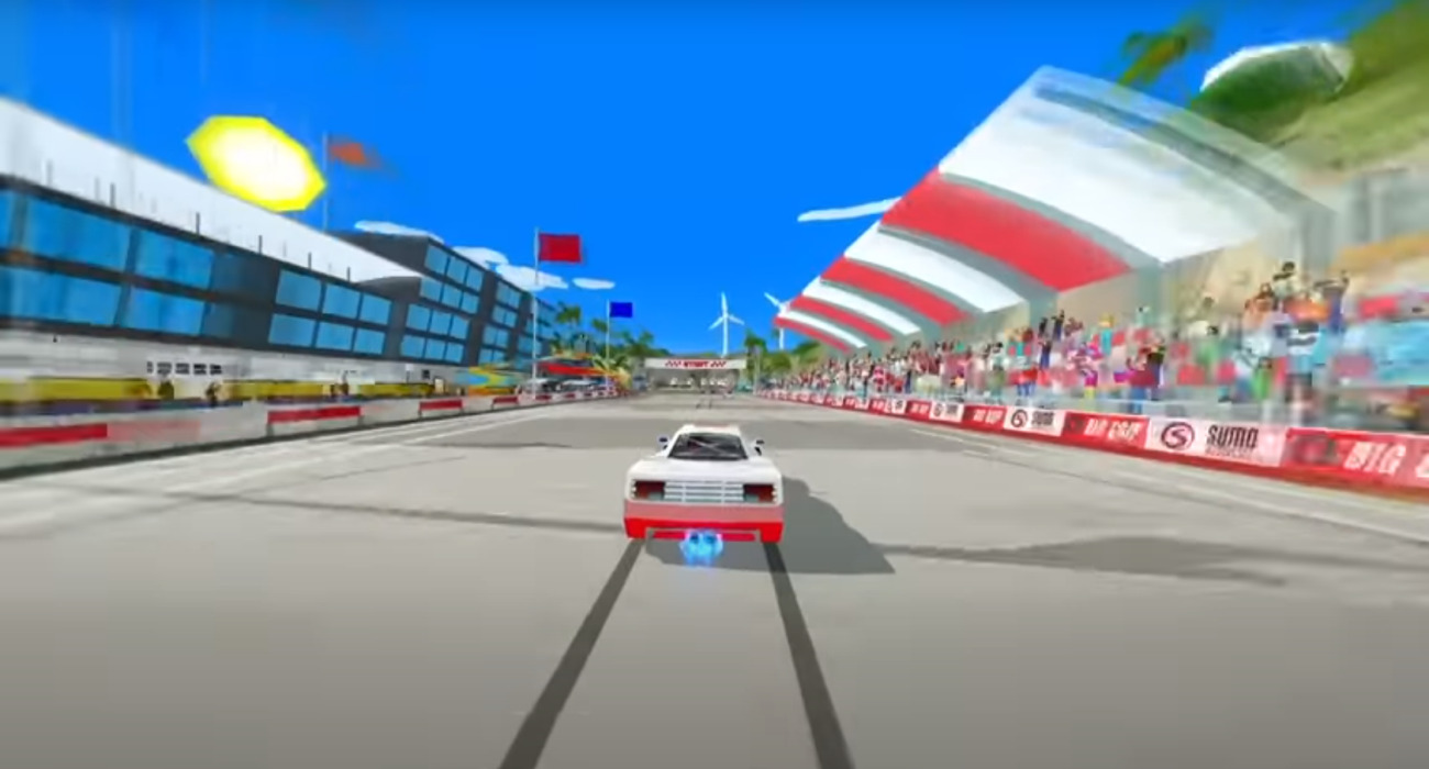 The Retro Arcade Racer Hotshot Racing Is Now Available On Steam