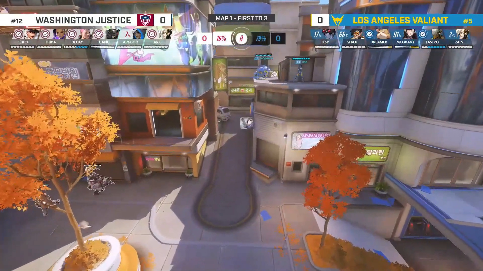 Overwatch League – Losers Quarter-Final B Sees The Washington Justice Face Off Against The LA Valiant