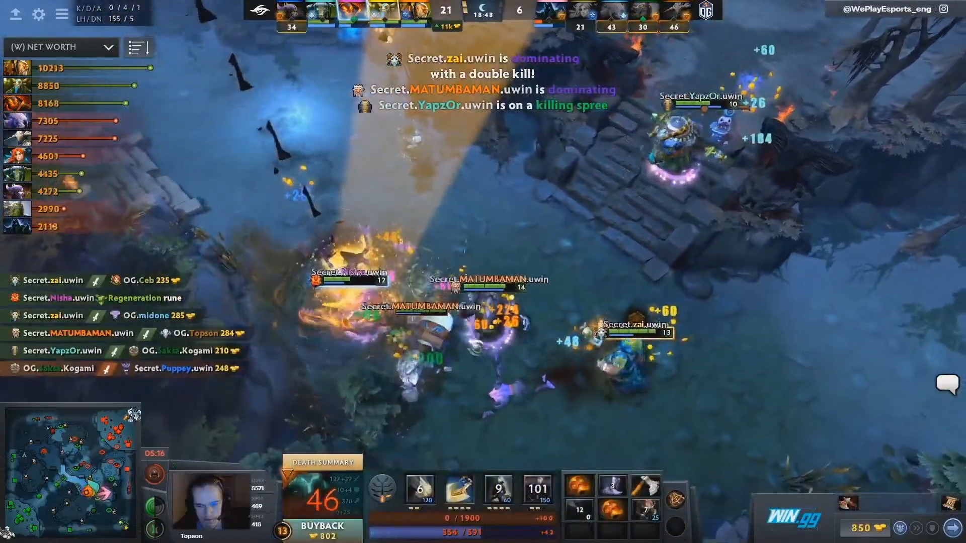 The Domination Continues As Team Secret Sweeps OG In The OMEGA League Finals