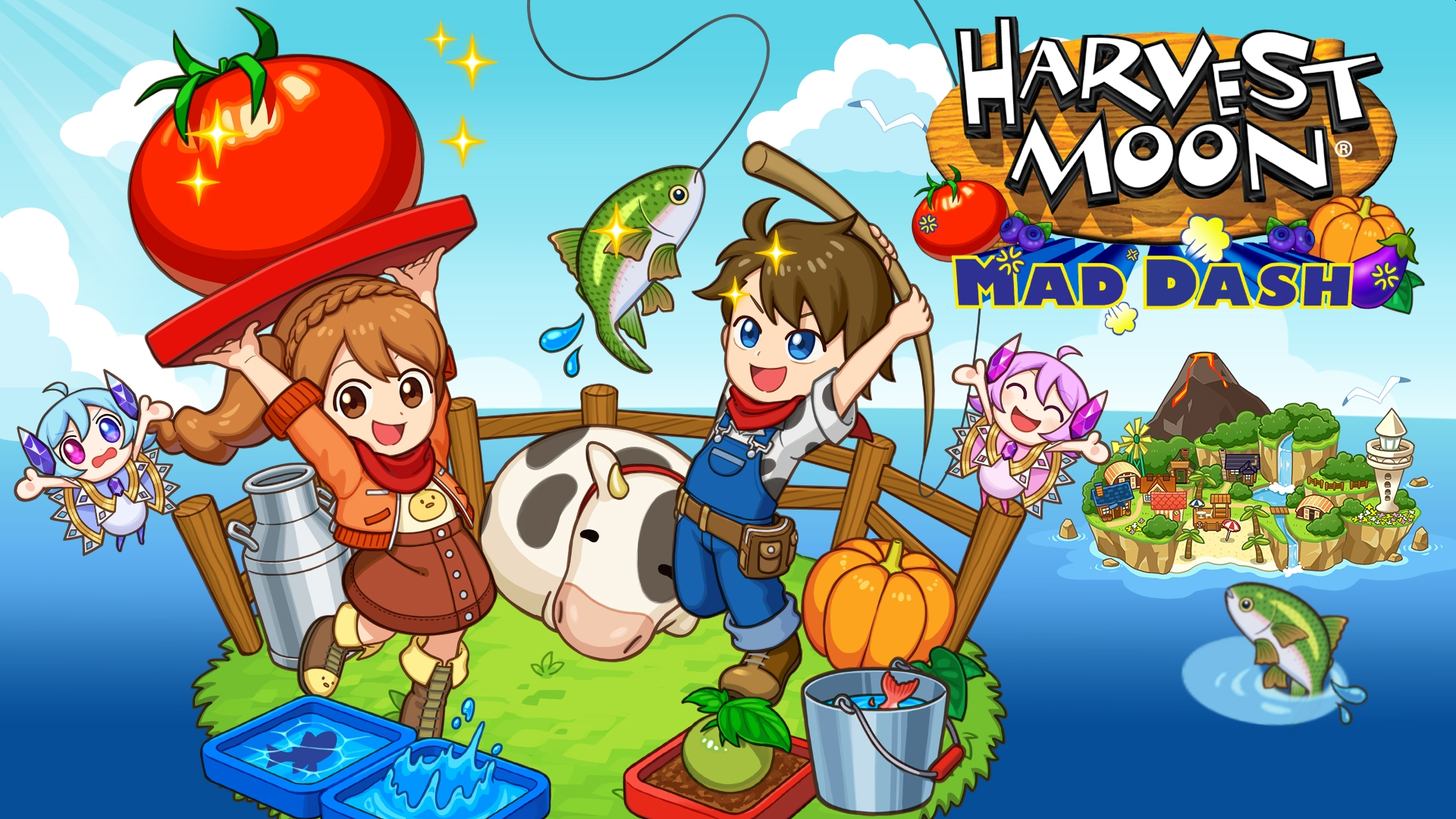 Natsume Launches Harvest Moon: Mad Dash On Xbox One And Windows 10 Store