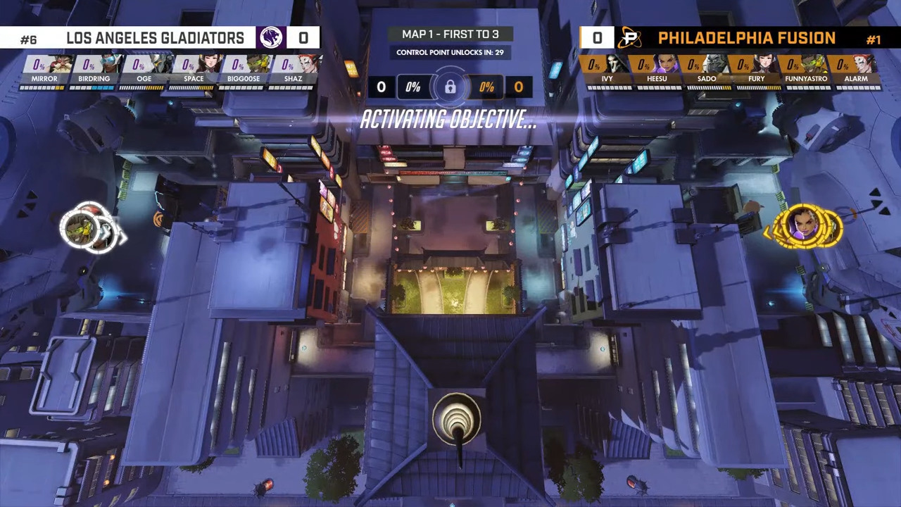 Overwatch League – Los Angeles Gladiators Face The Philadelphia Fusion Surprisingly Quick