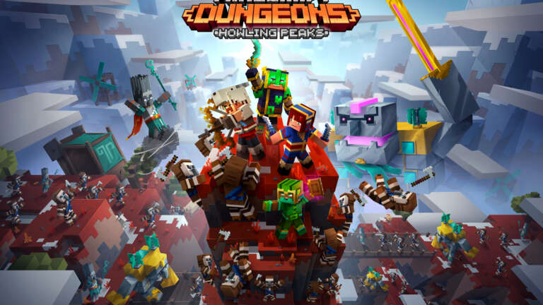 Minecraft Dungeons: Howling Peaks DLC, All Hostile Mobs Added Into Minecraft Dungeons