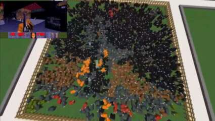 Minecraft Modder Got A Doom Video To Play On Minecraft Sheep, Which Is A Unique Way To Consume Content!
