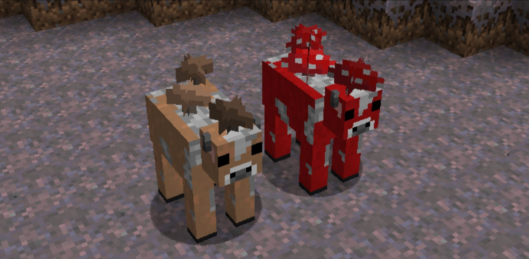 Minecraft Mobs Explored: Mooshroom, A Cow That Features Mushrooms On It's Back But Still Has Milk To Give