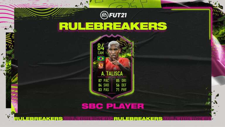 Should You Do The Anderson Talisca Rulebreakers SBC In FIFA 21? Brilliant Card, Hard To Link