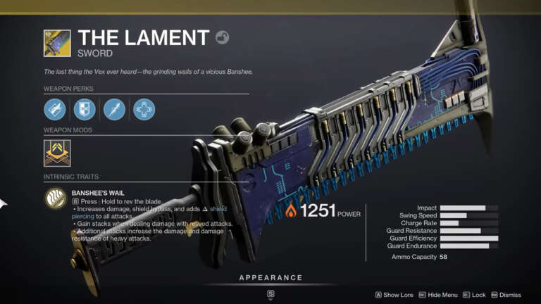 Destiny 2: Lament Exotic Quest Available From Banshee - How To Complete Exotic Quest